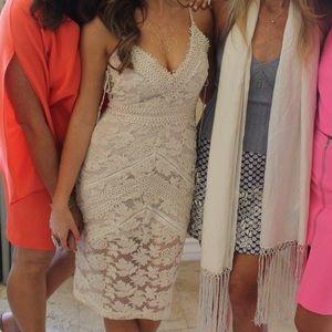Adelyn Rae Lace Midi Dress